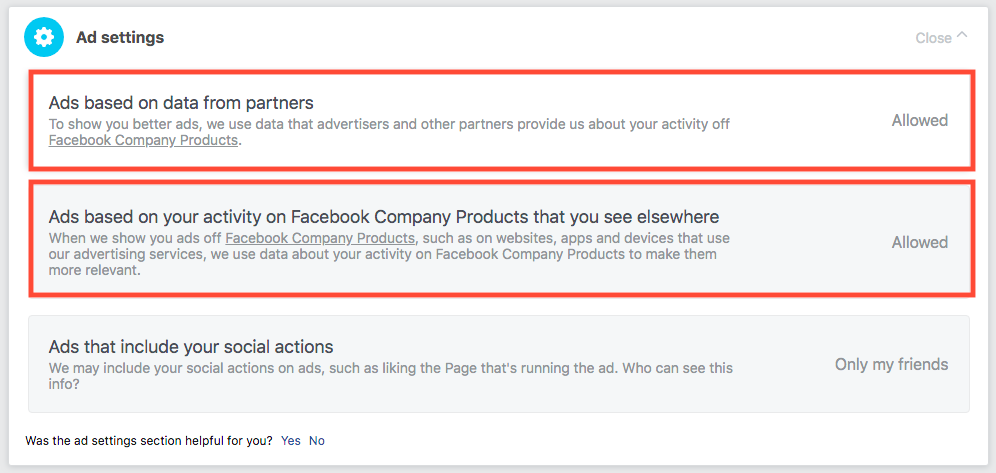 Off-Facebook Activity - Ads Settings